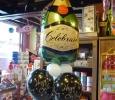 montage ballons avec bouteille champagne hélium anniversaire