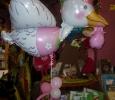 Ballon hélium naissance géant cygogne