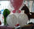 Ballon mariage coeur hélium