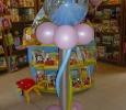 montage ballon princesse tour hélium anniversaire soignies bubble