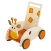 Chariot marche bois girafe scratch