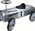 Trotteur porteur auto rétro métal gris numero 1