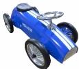 Trotteur porteur auto métal police retro bleu