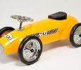 Trotteur porteur auto métal taxi rétro jaune