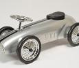 trotteur porteur auto retro metal gris