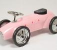 trotteur porteur auto métal rose