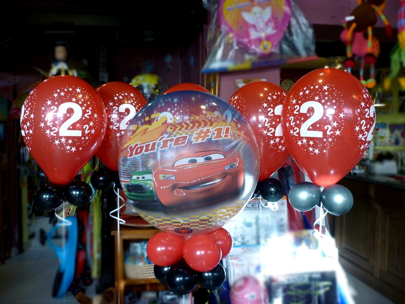 ballon cars 2 ans