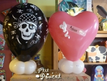 Ballon pied table cadeau