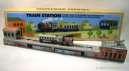 Train station en tole métal jouets clef le p'tit poucet soignies