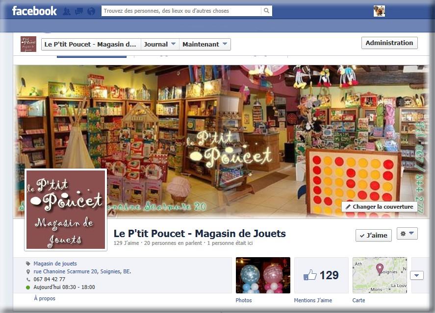 page facebook le p'tit poucet à soignies magasin de jouets